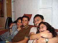 Haruko, Enrique, Juan Pablo y Mónica