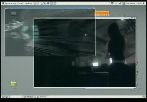 Video transparente