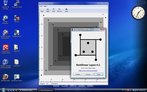 RLayers en Windows Vista, de un ejecutable
