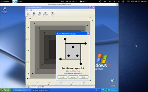 RLayers en Windows XP, de un ejecutable