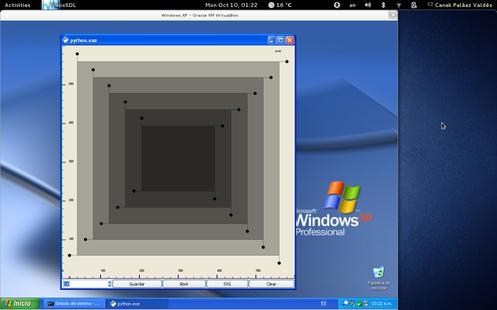 RLayers en Windows XP, versión simple